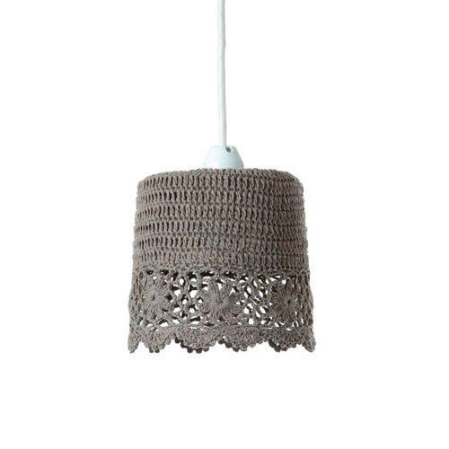 MERCROS CROCHET-1BULB-60W-PENDANT-LIGHT-LACE-OLIVE