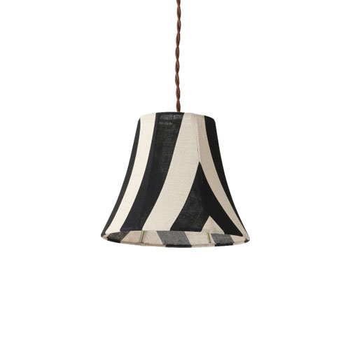 MERCROS PARTY-FABRIC-LAMP-1BULB-STRIPE BK