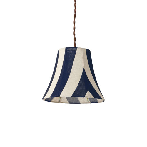 MERCROS PARTY-FABRIC-LAMP-1BULB-STRIPE BL