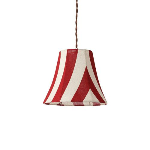MERCROS PARTY-FABRIC-LAMP-1BULB-STRIPE RD