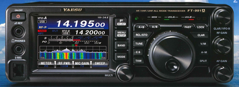 【ヤエス FT-991A】HF〜430MHz帯オールモードトランシーバー 100W