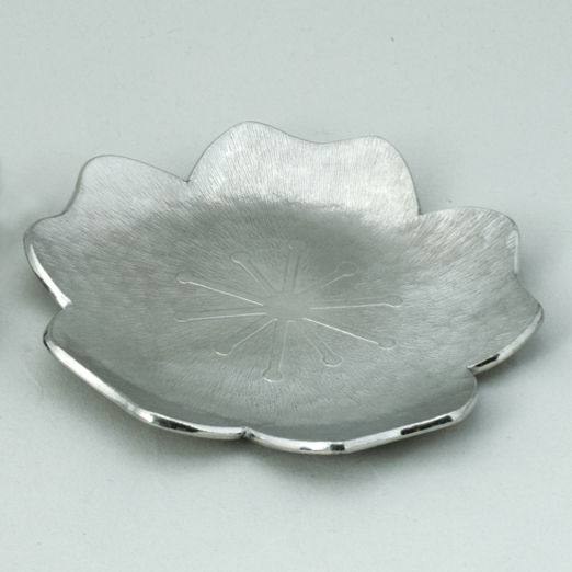 錫漆 お皿 桜