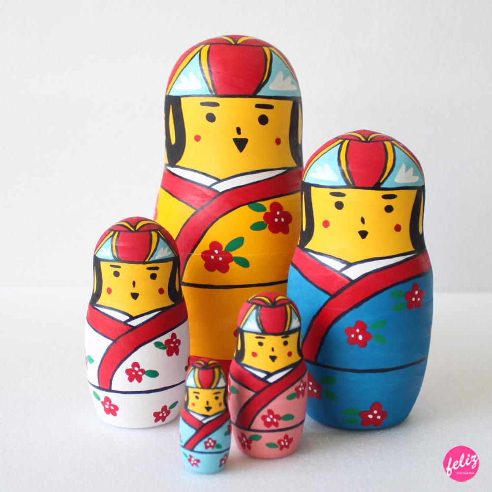 マトリョーシカ - 花笠マトリョーシカ(ロシアver)