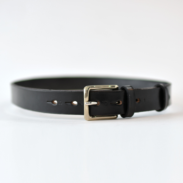 REAL HARNESS - Stirrup Saddle Leather Belt - Black