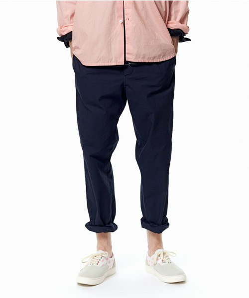 【JOHN UNDERCOVER】 ジョンアンダーカバー 2017SS 製品染めシャツ地ゴムパンツ JUS4506