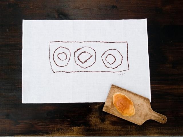 倉敷意匠計画室 mitsou パンが好き晒ふきん/ドーナッツ