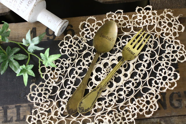 ディスプレイ真鍮スプーン&フォーク