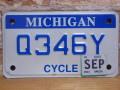 USEDモーターサイクルナンバープレート  ミシガン