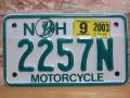 USEDモーターサイクルプレート ニューハンプシャー