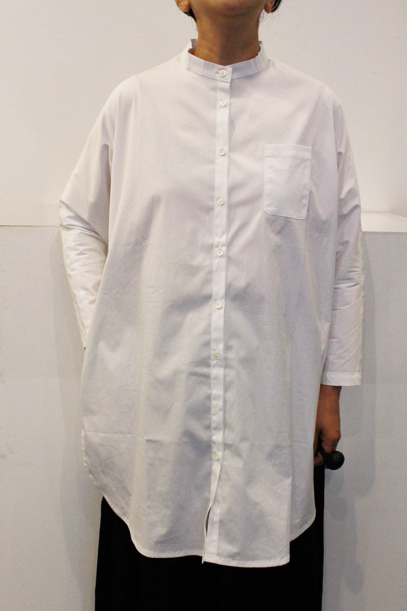 vekt:スタンドネックロングシャツ