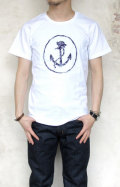 BLUEBLUE��NT190 ANCHOR AND SAILORCAP EMBRODERY S/S TEE