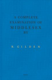 �֥롼��������ǥ�̿��� : BURUCE GILDEN : A COMPLETE EXAMINATION OF MIDDLESEX