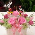 プリザーブドフラワー 結婚祝い ミッキー&ミニーウエディング
