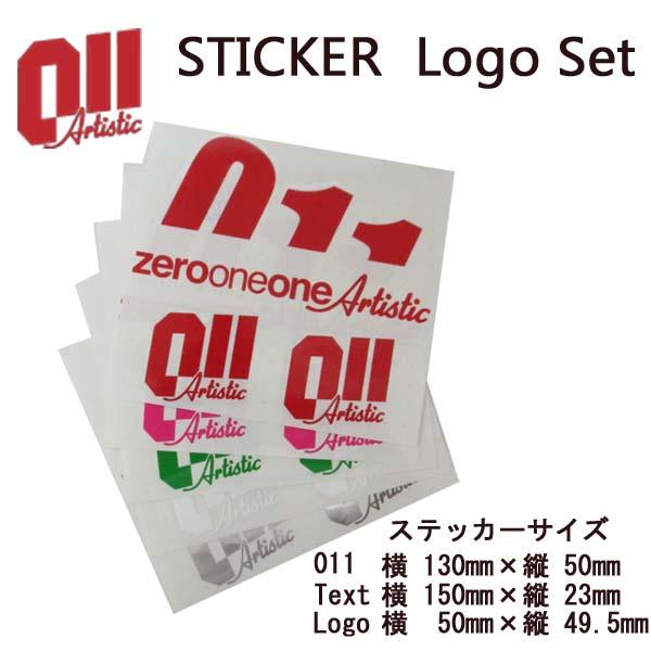 011 artistic ゼロワンワンアーティスティック ステッカー LogoSet ロゴセット 15-16