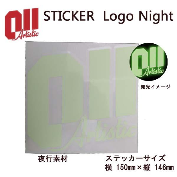 011 artistic ゼロワンワンアーティスティック ステッカー Logo Nightl ロゴ ナイト 夜光素材 15-16