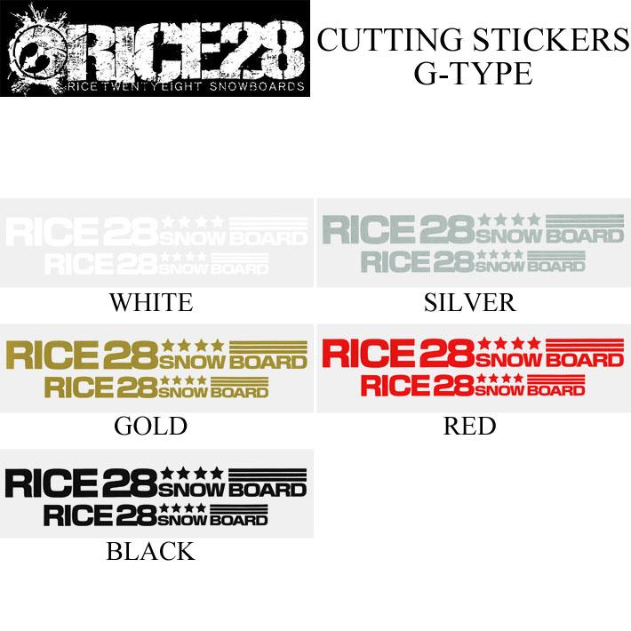 RICE28 ライス28 カッティングステッカー G-TYPE CUTTING MARK スノーボード