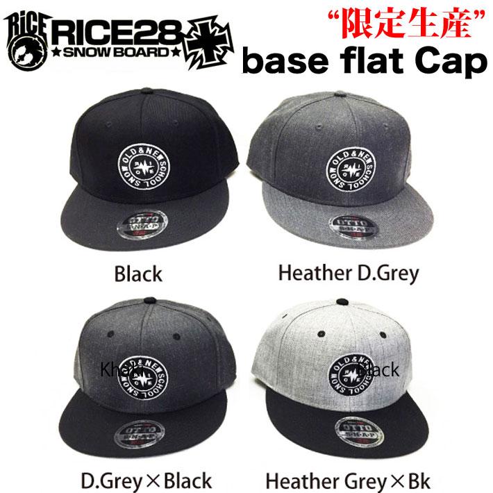 [限定生産]  RICE28 【ライス28】 Base Flat Cap ベースフラットキャップ HEAD WEAR ヘッドウェア