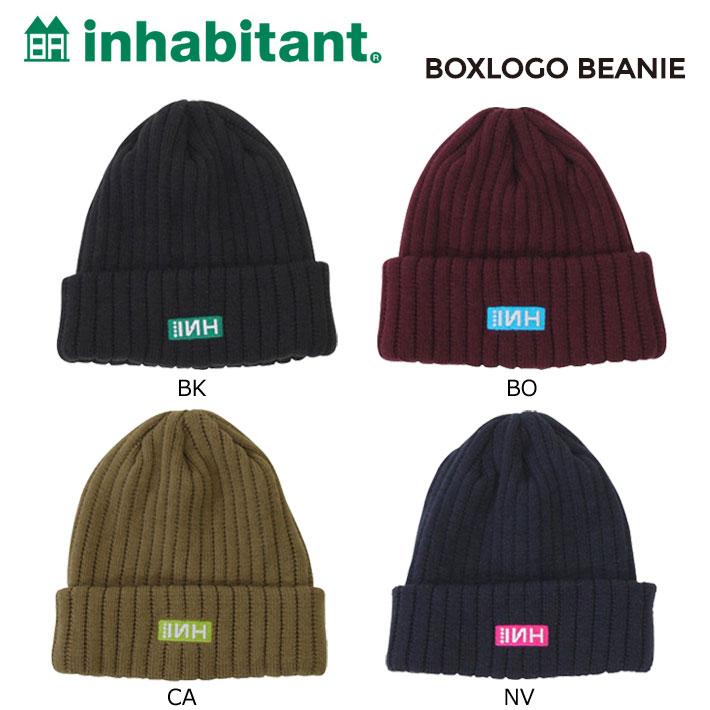 16-17 inhabitant インハビタント ビーニー BOXLOGO BEANIE ニットキャップ ニット帽 インハビタント ウエア