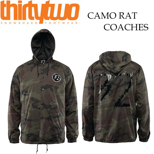 16-17 THIRTYTWO/サーティーツー 32 HOODRATS RAT CAMO COACH jacket コーチジャケット メンズ スノーボードウェア アパレル