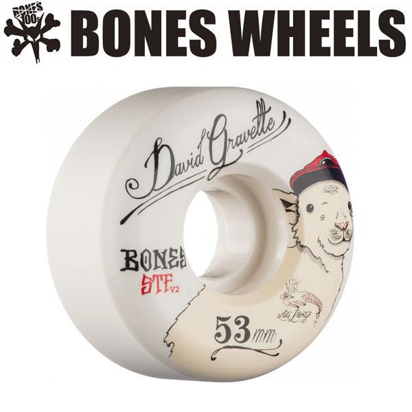 BONES WEELS ボーンズ ウィール GRAVETTE BABYLAMB 53mm [STF] スケートボードウィール 正規品