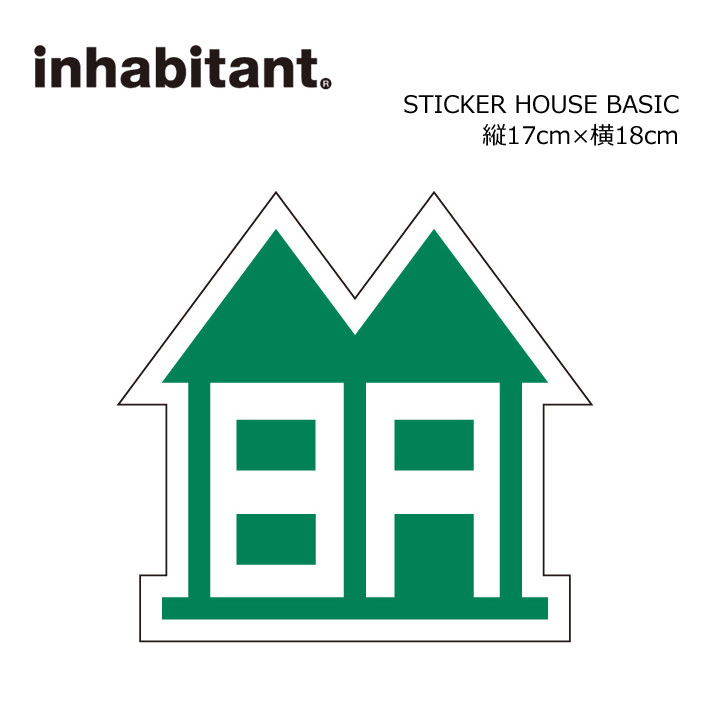 inhabitant インハビタント ステッカー STICKER HOUSE BASIC
