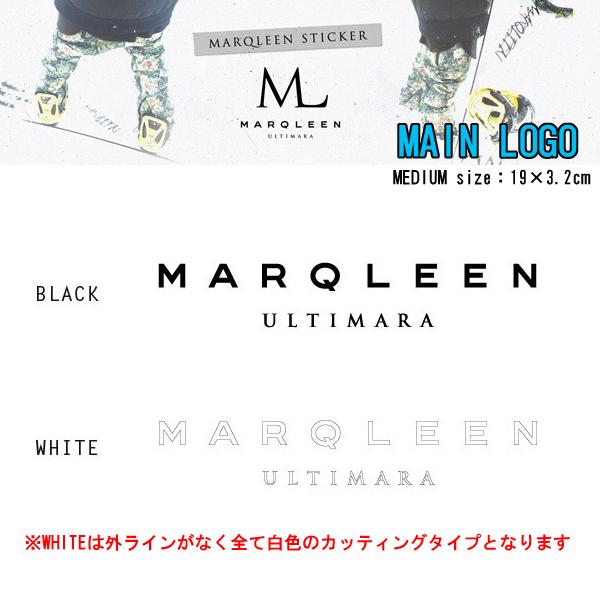 MARQLEEN マークリーン ステッカー MAIN LOGO ステッカー MEDIUM カッティングスノーボードステッカー