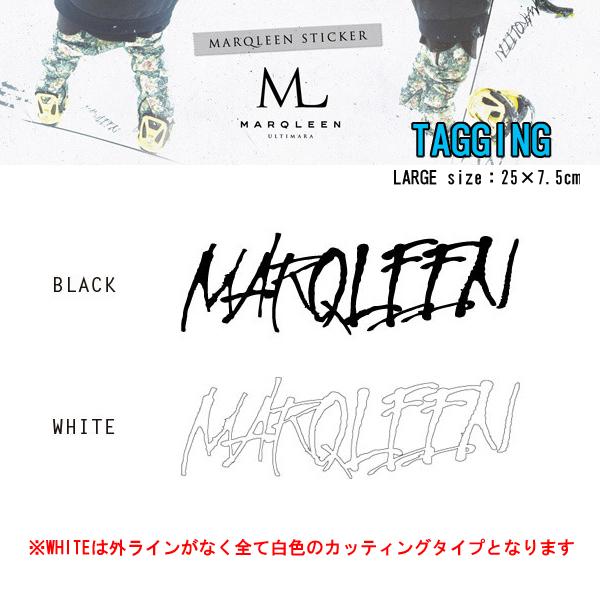 MARQLEEN マークリーン ステッカー TAGGING ステッカー LARGE カッティングスノーボードステッカー
