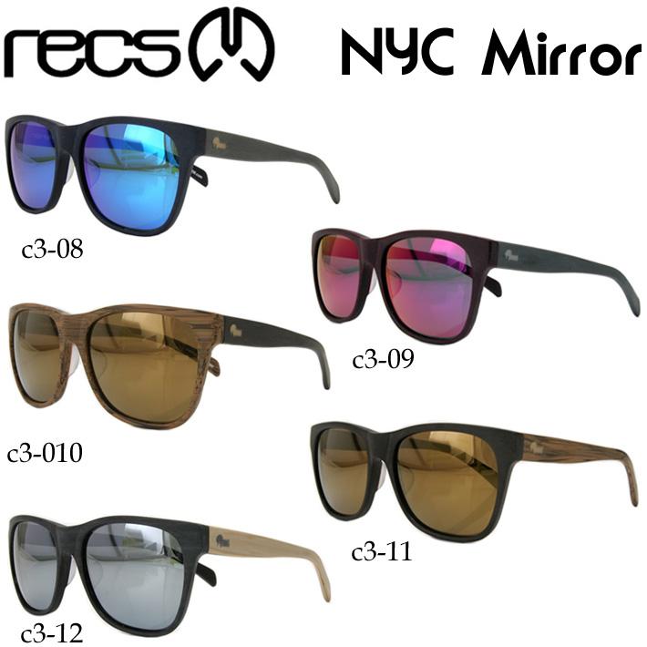 recs レックス NYC_Mirror recs-c3 UVカット Mirror Lens(アイウェア・メガネ・ミラーレンズ サングラス)