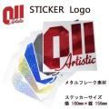 011 artistic ゼロワンワンアーティスティック ステッカー Logo ロゴ メタルフレーク素材 15-16