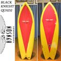 【送料無料】HYNSON ヒンソン サーフボード Black Knight Quad2 5'8 ブラックナイトクアッド フィッシュボード