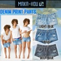 MAKA-HOU �ޥ��ۡ� ��å��奬���� ��ǥ����� �ۥåȥѥ�� ��41W05-61S�� Denim Print Pants �ǥ˥�ץ��ȥѥ��