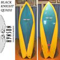 【送料無料】HYNSON ヒンソン サーフボード Black Knight Quad2 6'2 ブラックナイトクアッド フィッシュボード