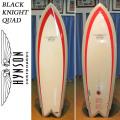 【送料無料】HYNSON ヒンソン サーフボード Black Knight Quad 6'4 ブラックナイトクアッド フィッシュボード