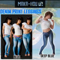 MAKA-HOU �ޥ��ۡ� ��å��奬���� ��ǥ����� �쥮�� ��71W05-61S�� Denim Print Leggings �ǥ˥�ץ��ȥ쥮��