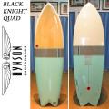 HYNSON ヒンソン サーフボード Black Knight Quad 6'4 ブラックナイトクアッド フィッシュボード