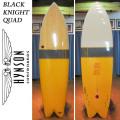 【送料無料】HYNSON ヒンソン サーフボード Black Knight Quad 7'0 ブラックナイトクアッド フィッシュボード