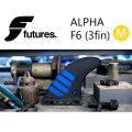 FUTURE FINS フューチャーフィン ALPHA F6 (M) carbon blue TRI トライフィン 3fin