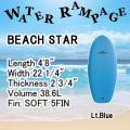 【送料無料】WATER RAMPAGE  ウォーターランページ サーフボード BEACHSTAR 4'8 ショートボード ソフトボード スポンジボード