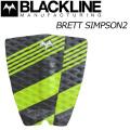 BLACKLINE ブラックライン デッキパッド BRETT SIMPSON 2  3ピース