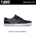 DVS ディーブイエス スケートシューズ Daewon 14(004)Black_Grey_Suede_Herringbone メンズ スニーカー SK8 シューズ
