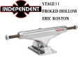 INDEPENDENT TRUCK インディペンデント トラック STAGE11 FORGED HOLLOW ERIC KOSTON2 SILVER 129 STANDARD スケートボード トラック HIGH [5] [6]