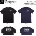 [日本正規品] BRIXTON Tシャツ LANGLEY ブリクストン Tシャツ プレミアムフィット 2017