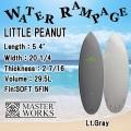 【送料無料】WATER RAMPAGE  ウォーターランページ サーフボード LITTLE PEANUT 5'4 ショートボード ソフトボード スポンジボード