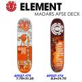 ELEMENT エレメント スケートボード デッキ MADARS APSE シグネチャーモデル 正規品
