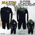 【代引き手数料無料】ウェットスーツ ロングスプリング 3.5mm MAXIM マキシム ウェットスーツ S-TYPE フォローズ限定モデル BACKZIP バックジップ ウエットスーツ