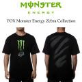 MONSTER ENERGY ��FOX ����ܡ�T����� ZEBRA BLACK ��� Ⱦµ T�����