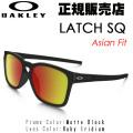 [�������̵��][6�������]������� ���饹 OAKLEY  ��å� �������塼 ��������ե��å� LATCH SQ Asian Fit 9358-03 ����������