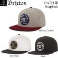 [日本正規品] BRIXTON CAP ブリクストン スナップバック OATH3 SnapBack 2017