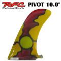 Rainbow Fin レインボーフィン Pivot ピボット [62] 10.0 ステンドグラス ロングボード用フィン