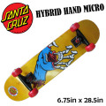 SANTA CRUZ サンタクルーズ スケート コンプリート HYBRID HAND MICRO [6.75x28.5] キッズ用 完成品スケボー SKATE